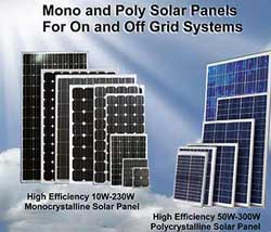 Solar Mono and Poly Panels