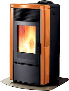 The Veronica Pellet Stove Ducted Ecoteck